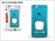 Apple iPhone 7 Plus szilikon hátlap - BCN Caseland Love - cyan