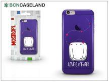 Apple iPhone 7 szilikon hátlap - BCN Caseland Love - lila