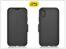 Apple iPhone X flipes védőtok - OtterBox Strada - black