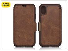 Apple iPhone X flipes védőtok - OtterBox Strada - brown
