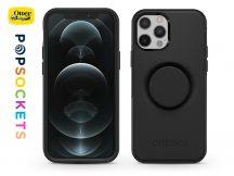 Apple iPhone 12/12 Pro védőtok - OtterBox Symmetry Popsockets - black