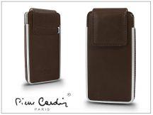 Pierre Cardin valódi bőrtok - Apple iPhone 4/4S - Type-5 - barna