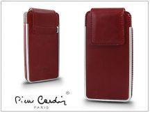 Pierre Cardin valódi bőrtok - Apple iPhone 4/4S - Type-5 - piros