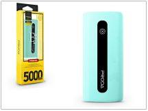 Univerzális hordozható, asztali akkumulátor töltő - Proda E5 Power Bank - 5000 mAh - kék