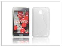 LG E430 Optimus L3 II szilikon hátlap - S-Line - fehér