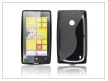 Nokia Lumia 520/525 szilikon hátlap - S-Line - fekete