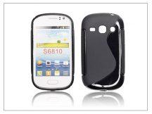 Samsung S6810 Galaxy Fame szilikon hátlap - S-Line - fekete