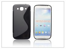 Samsung i9150 Galaxy Mega 5.8 szilikon hátlap - S-Line - fekete