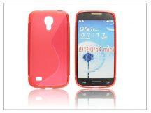Samsung i9190 Galaxy S4 Mini szilikon hátlap - S-Line - piros