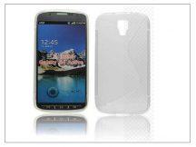 Samsung i9295 Galaxy S4 Active szilikon hátlap - S-Line - fehér