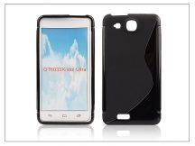 Alcatel One Touch Idol Ultra 6033 szilikon hátlap - S-Line - fekete
