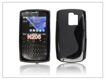 Nokia Asha 205 szilikon hátlap - S-Line - fekete