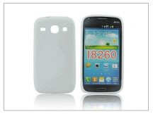 Samsung i8260 Galaxy Core szilikon hátlap - S-Line - fehér