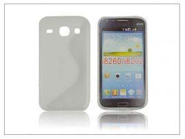 Samsung i8260 Galaxy Core szilikon hátlap - S-Line - transparent