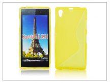 Sony Xperia Z1 (C6903) szilikon hátlap - S-Line - sárga