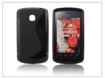 LG E410 Optimus L1 II szilikon hátlap - S-Line - fekete