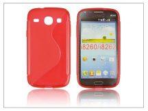 Samsung i8260 Galaxy Core szilikon hátlap - S-Line - piros