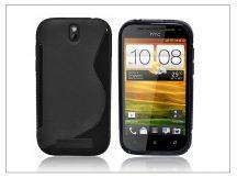 HTC One SV szilikon hátlap - S-Line - fekete