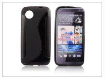 HTC Desire 700 szilikon hátlap - S-Line - fekete (Dual Slim-hez nem jó)