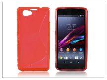 Sony Xperia Z1 Compact (D5503) szilikon hátlap - S-Line - piros