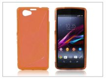 Sony Xperia Z1 Compact (D5503) szilikon hátlap - S-Line - narancs