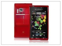 Sony Ericsson Satio U1 szilikon hátlap - piros - LUX