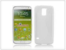 Samsung SM-G900 Galaxy S5 szilikon hátlap - S-Line - fehér