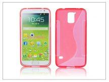 Samsung SM-G900 Galaxy S5 szilikon hátlap - S-Line - piros