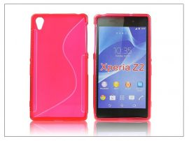 Sony Xperia Z2 szilikon hátlap - S-Line - piros