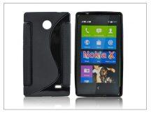 Nokia X/X+ szilikon hátlap - S-Line - fekete