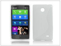 Nokia X/X+ szilikon hátlap - S-Line - fehér