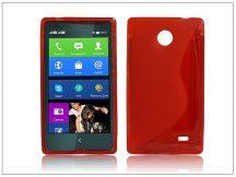 Nokia X/X+ szilikon hátlap - S-Line - piros