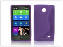 Nokia X/X+ szilikon hátlap - S-Line - lila