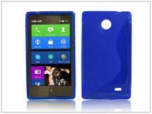 Nokia X/X+ szilikon hátlap - S-Line - kék