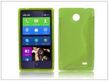 Nokia X/X+ szilikon hátlap - S-Line - zöld