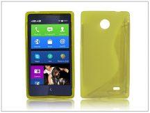 Nokia X/X+ szilikon hátlap - S-Line - sárga
