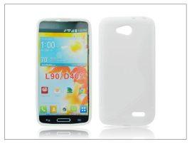 LG L90 D405 szilikon hátlap - S-Line - fehér