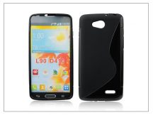 LG L90 D405 szilikon hátlap - S-Line - fekete