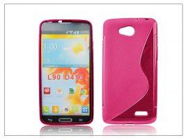 LG L90 D405 szilikon hátlap - S-Line - pink