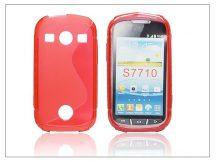 Samsung S7710 Galaxy Xcover 2 szilikon hátlap - S-Line - piros