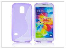 Samsung SM-G800 Galaxy S5 Mini szilikon hátlap - S-Line - lila