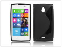 Nokia X2 szilikon hátlap - S-Line - fekete