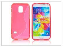 Samsung SM-G800 Galaxy S5 Mini szilikon hátlap - S-Line - piros