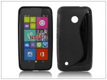 Nokia Lumia 530 szilikon hátlap - S-Line - fekete