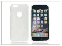 Apple iPhone 6 szilikon hátlap - S-Line - fehér
