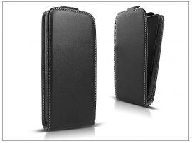 Slim Flexi Flip bőrtok - Samsung SM-G750 Galaxy Mega 2 - fekete