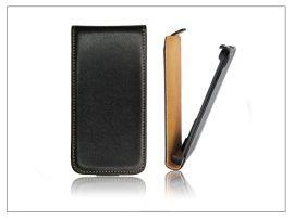 Slim Flip bőrtok - Samsung SM-G850 Galaxy Alpha - fekete