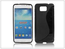Samsung SM-G850 Galaxy Alpha szilikon hátlap - S-Line - fekete