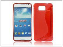 Samsung SM-G850 Galaxy Alpha szilikon hátlap - S-Line - piros
