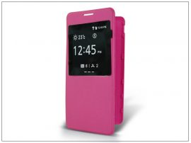 Samsung SM-G850 Galaxy Alpha S-View flipes tok - pink